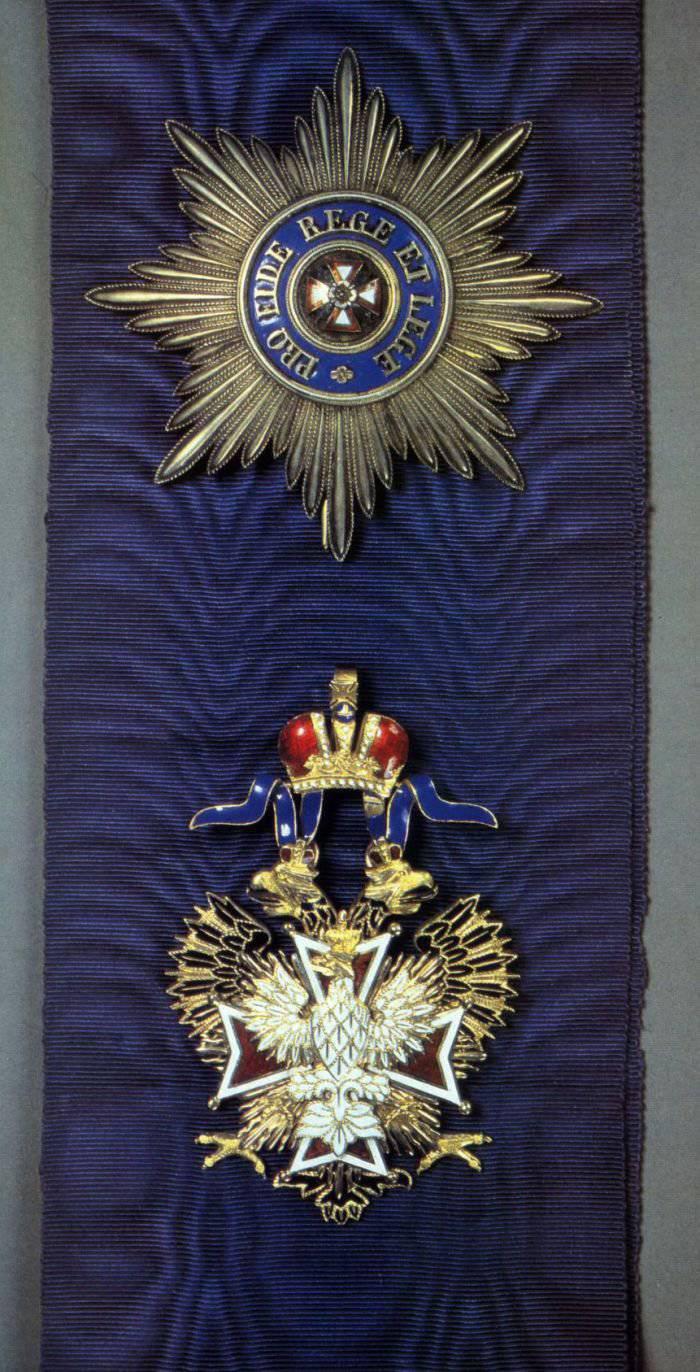 Ордена и медали Российской империи. Орден Белого Орла