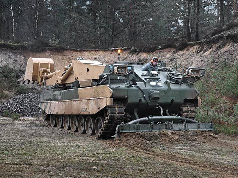 Création d'un espace de combat: véhicules de génie militaire du siècle 21