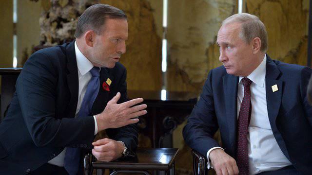 """Presse australienne: Abbott a demandé des excuses et une indemnisation à Poutine pour la destruction de """"Boeing-777"""""""