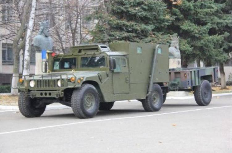 Amerikanische Ausrüstung für die moldauische Armee