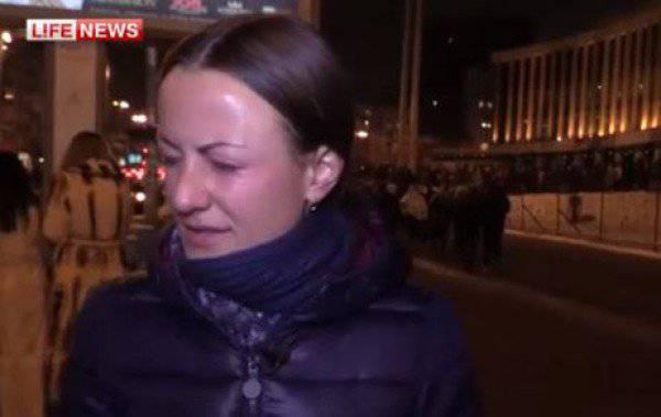 キエフでは、ウクライナの同僚とサッカーファンがLifeNewsジャーナリストを破った