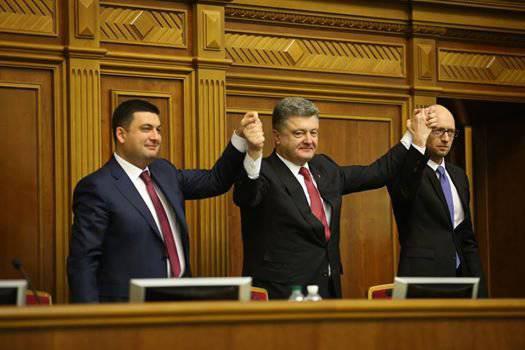 यात्सेनुक को बाड़ लगाने वाली सरकार का प्रमुख नियुक्त किया गया है, और पोरोशेंको ने यूक्रेन में नेतृत्व के पदों के लिए विदेशियों को नियुक्त करने का प्रस्ताव किया है