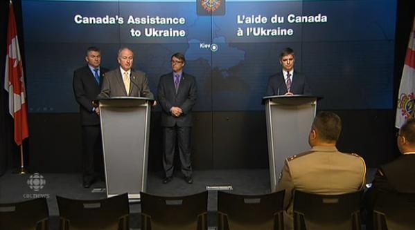 カナダはウクライナに軍事援助のバッチを送った
