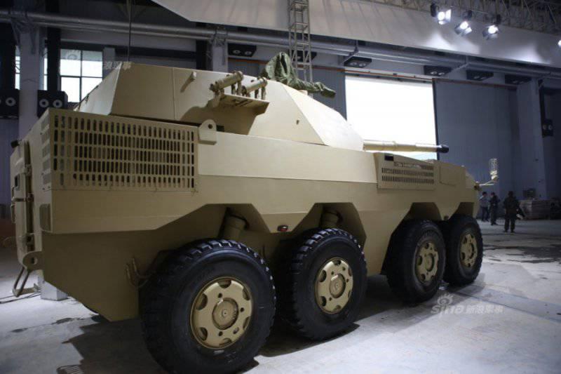 Китай представил колесный танк для экспортных поставок