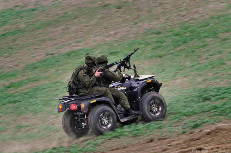 Российская армия осваивает квадроциклы