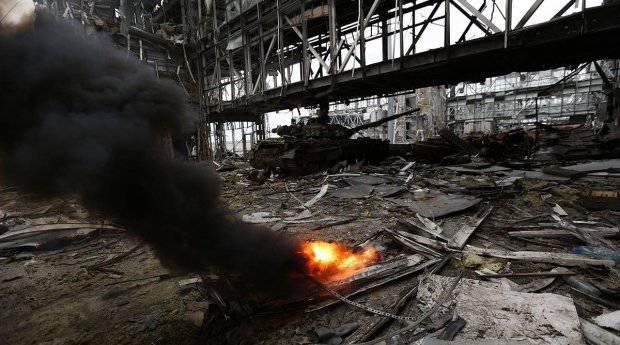 ウクライナ軍はドネツク空港の古いターミナルを爆破しましたか?