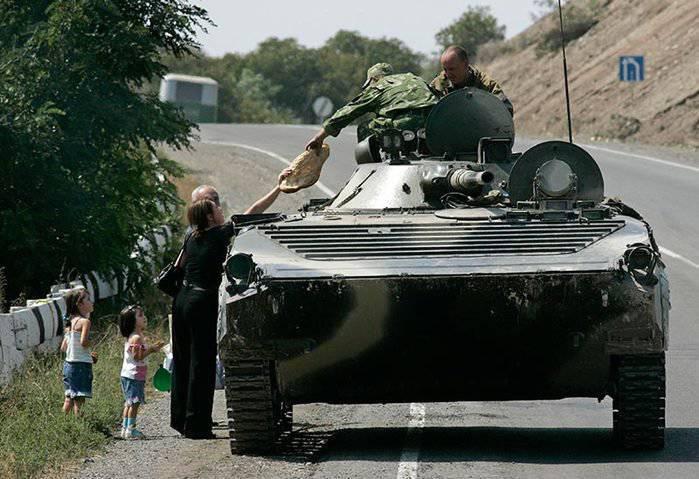 आरएफ सशस्त्र बलों के अभ्यास दक्षिण ओसेशिया के एक प्रशिक्षण मैदान में शुरू किए गए