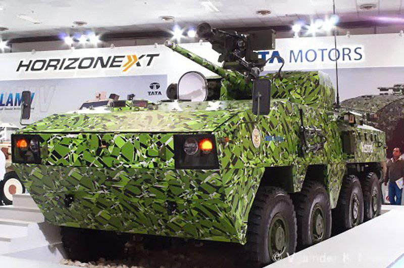 Kestrel de transporte de pessoal blindado com rodas flutuantes da Tata Motors e DRDO