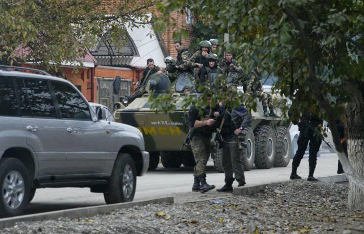 ग्रोज़नी में शुरू किए गए आतंकवाद-रोधी ऑपरेशन का शासन