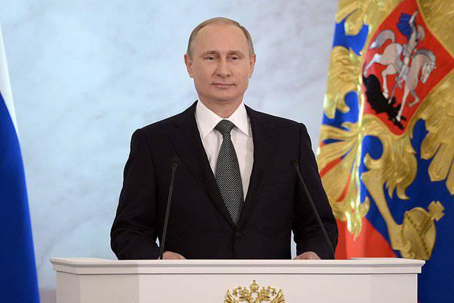 ウクライナのテレビチャンネルの連邦議会へのウラジミールプーチンのメッセージの放送のために深刻な問題を脅かす