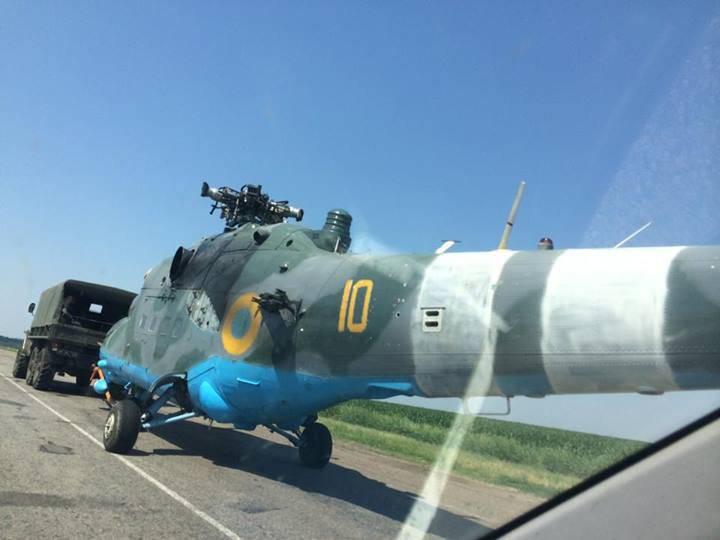 ドンバスとの戦いでのMi-24ヘリコプターの使用