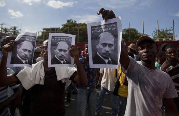 """हैती: """"व्लादिमीर पुतिन, कृपया हमारी मदद करें!"""""""