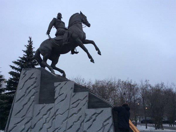 В Москве состоялась церемония открытия памятника генералу Скобелеву