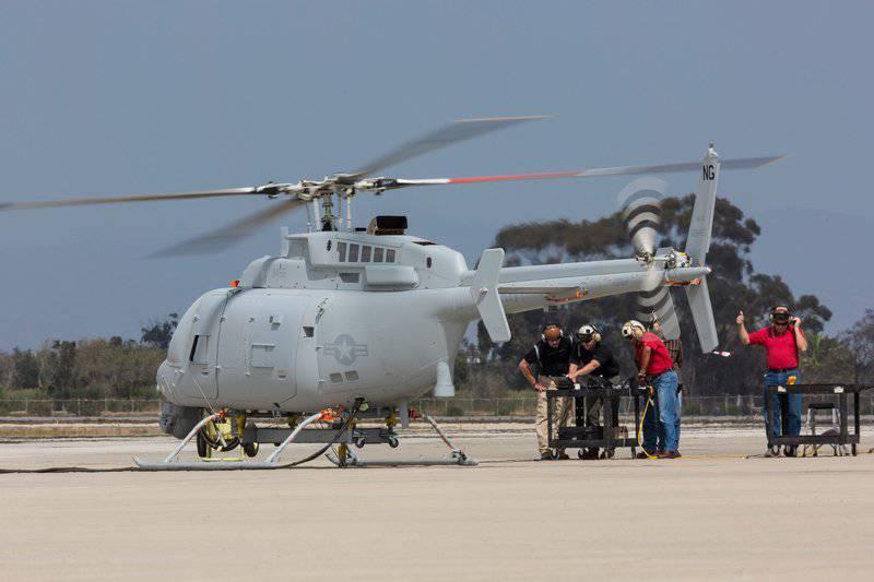 नॉर्थ्रॉप ग्रुमैन कॉरपोरेशन ने अमेरिकी नौसेना को ड्रोन MQ-8C फायर स्काउट की पहली कामकाजी प्रति हस्तांतरित की