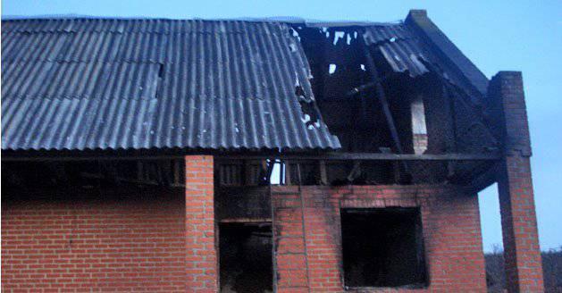 चेचन्या में आतंकवादियों के घर जला दिए गए