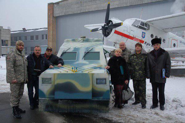 """Autoridades de segurança ucranianas receberão um carro blindado improvisado da fábrica """"Antonov"""""""