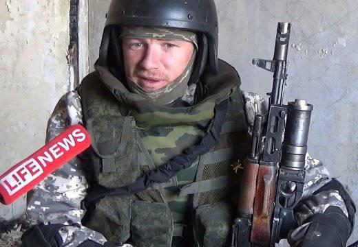 民兵「モトローラ」がドネツク空港で軍部隊の司令官と会談