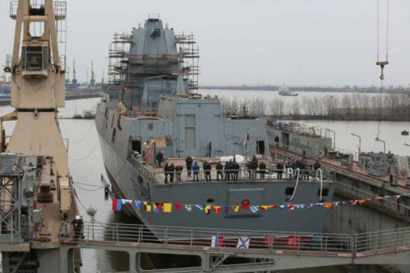 """Launched the frigate project 22350 """"Admiral Kasatonov"""""""