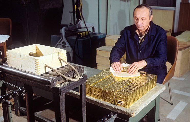 रूसी सोने के भंडार में 19 टन की वृद्धि हुई