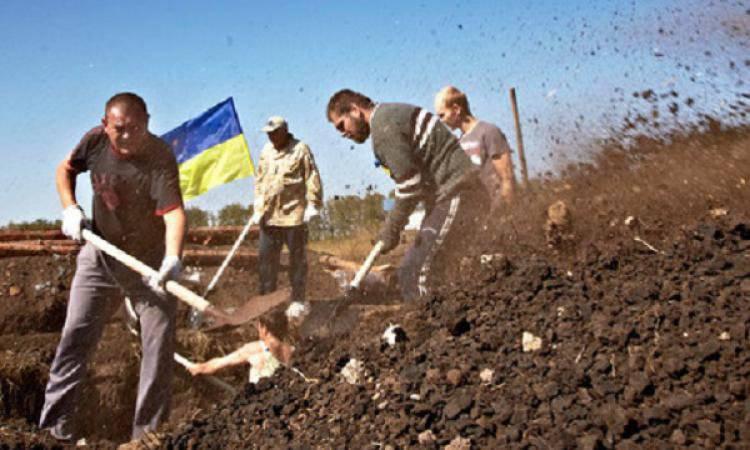"""ロシア連邦との国境に """"壁""""の建設に関するウクライナの地方自治体の報告"""