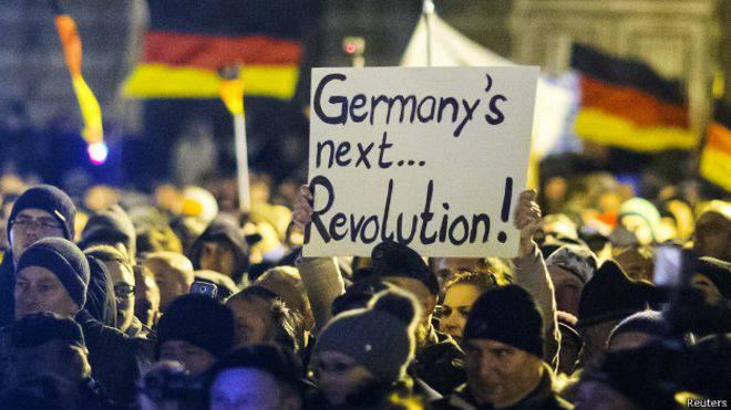 जर्मन मध्य वर्ग ने जर्मनी के इस्लामीकरण के खिलाफ विरोध प्रदर्शन किया