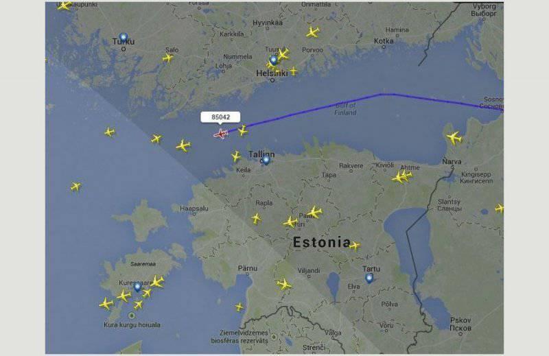 Эстонию обеспокоило появление самолётов российских ВВС над нейтральными водами