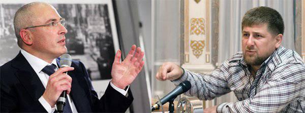 Kadyrovと不在のけんかでKhodorkovsky