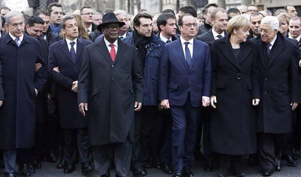 フランスのマスコミは、パリでのCivil MarchにSergei Lavrovと他の何人かの政治家の参加に対する不満を表明しました