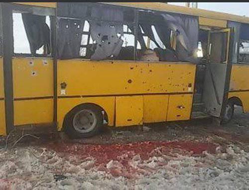 誰がドンバスのバスで発砲しましたか?