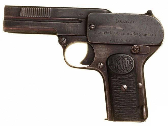 Dreyze Pistol Model 1907 of the Year (1907 Dreyse Pistol): dispositivo e procedura di smontaggio