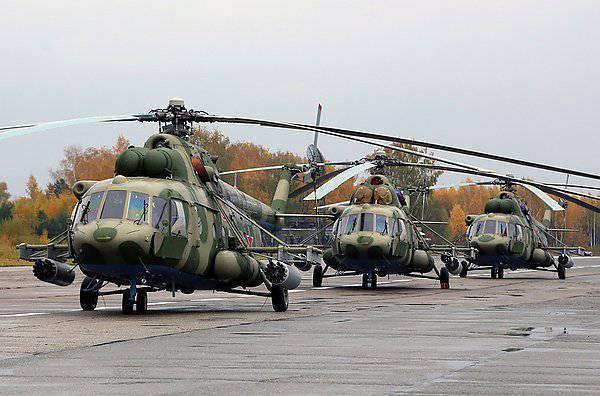 Поставки Ми-8МТВ-5 в Западный военный округ