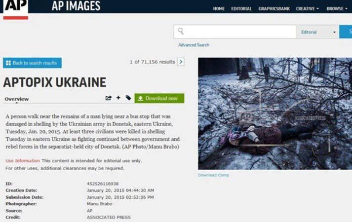 Associated Press blames Kiev for shelling in Donetsk