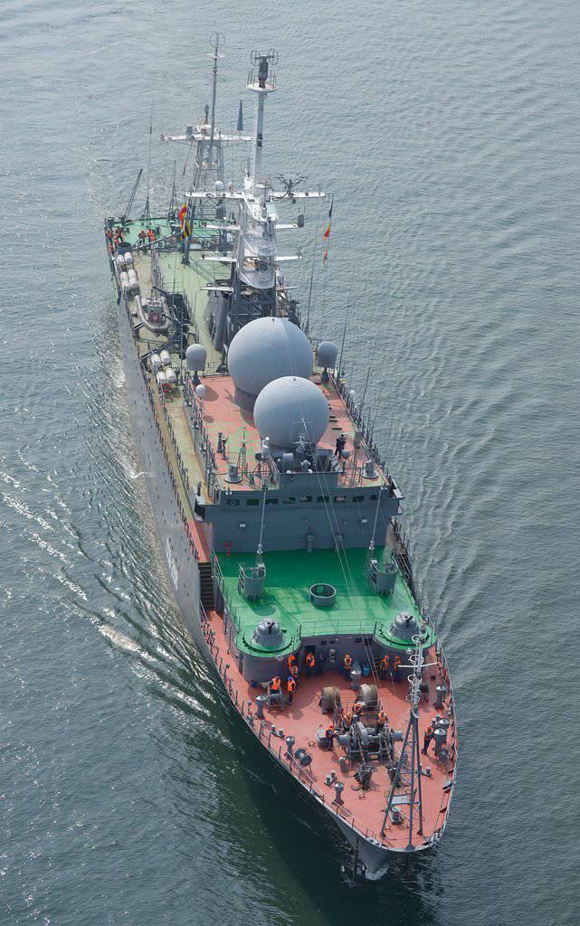 Navires de renseignement et navires spéciaux de la marine. Révision de photo