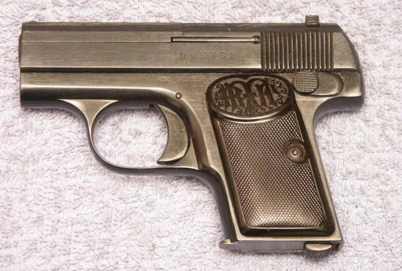 Жилетный пистолет Дрейзе калибра 6,35 мм (Dreyse 6.35mm Vest Pocket Pistol) и его разновидности