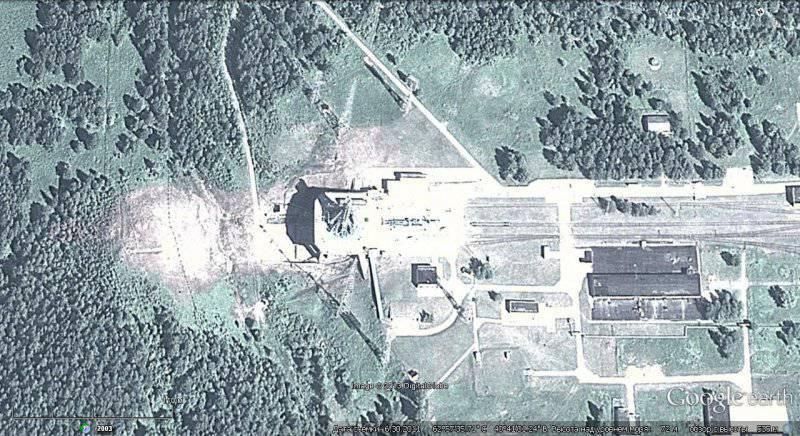 Sites de teste soviéticos e russos e centros de teste em imagens do Google Earth