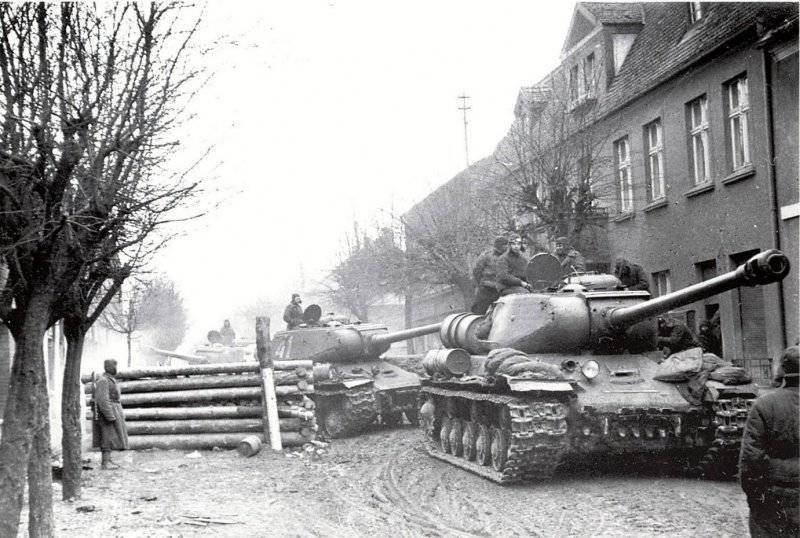 白俄罗斯阵线2部队的攻势:对Elbing和Graudents的攻击。 打败Shneidemul集团