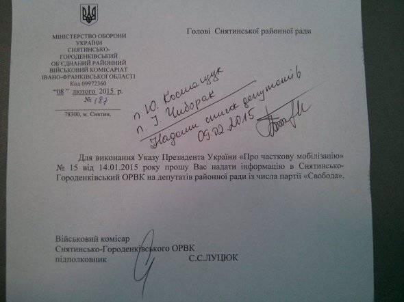 """Les membres de la partie ukrainienne """"Liberté"""" affirment que les autorités veulent les éliminer à l'aide d'une nouvelle vague de mobilisation"""