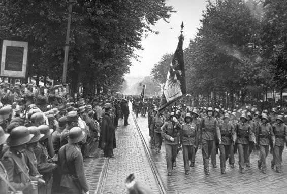 奥地利的内战。 2月1934维也纳会见了街头斗殴