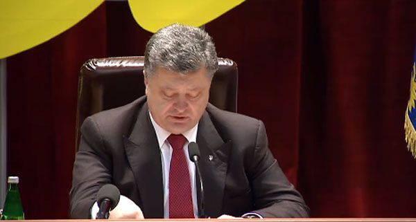 """Poroshenko: """"Ho chiesto a mia moglie di non congratularmi con me per le vacanze di 23 febbraio"""""""