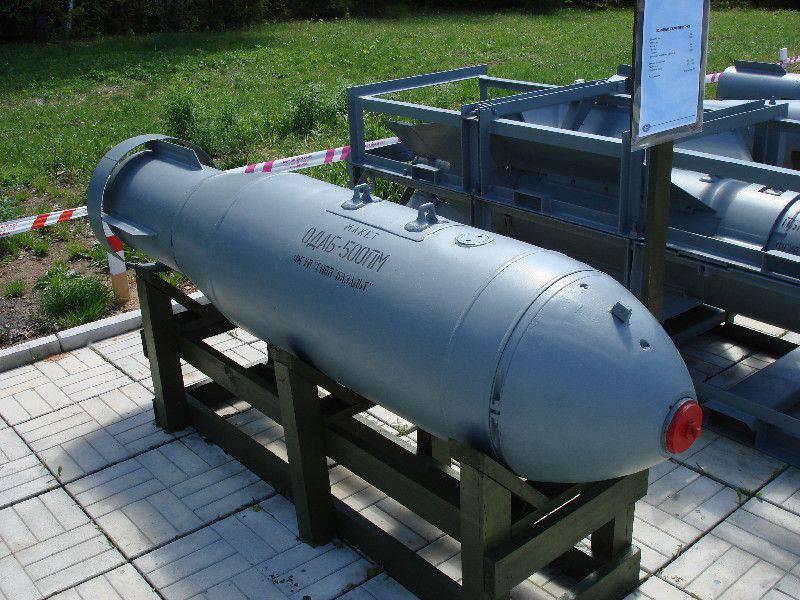La bomba atomica di un'esplosione di volume è la principale argomentazione non nucleare del Tu-160