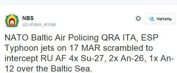 Letonya Silahlı Kuvvetleri: Eurofighter Typhoon uçakları, Rus Hava Kuvvetlerinin yedi uçağını durdurmak için Baltık üzerindeki gökyüzüne yükseldi.