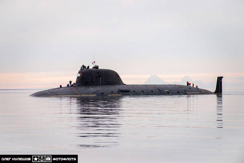 """러시아 잠수함 프로젝트 885 """"Ash""""는 미국 잠수함 함대와 경쟁 할 것입니다"""