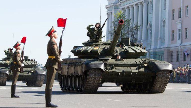 Yurginskaya brigade of the Central Military District re-armed to T-72B3