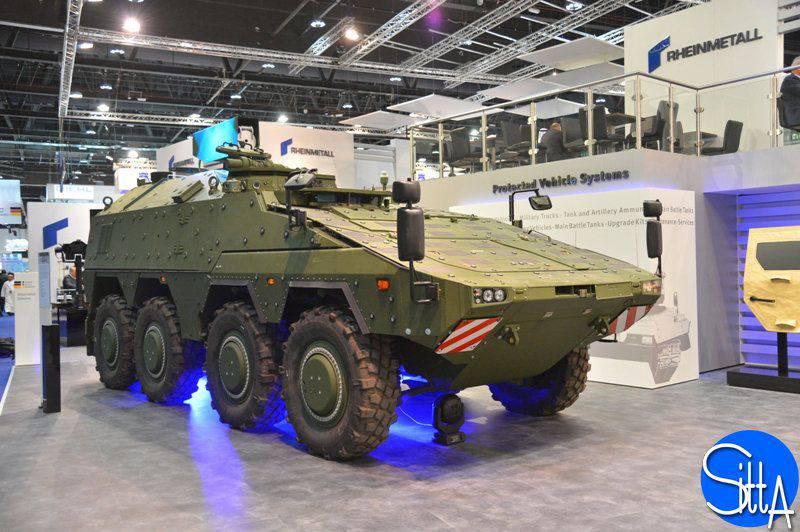 En IDEX 2015, Rheinmetall sorprendió por su láser de alta potencia instalado en la plataforma GTK Boxer.