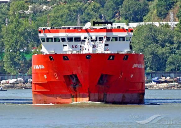Las autoridades ucranianas detuvieron el barco bajo la bandera de la Federación Rusa por ingresar al puerto de Crimea