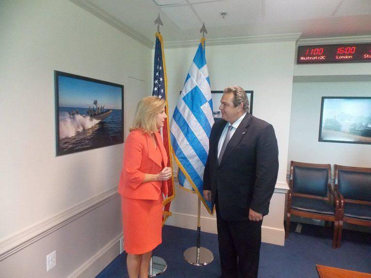 O Pentágono exortou a Grécia a continuar a política de sanções contra a Federação Russa