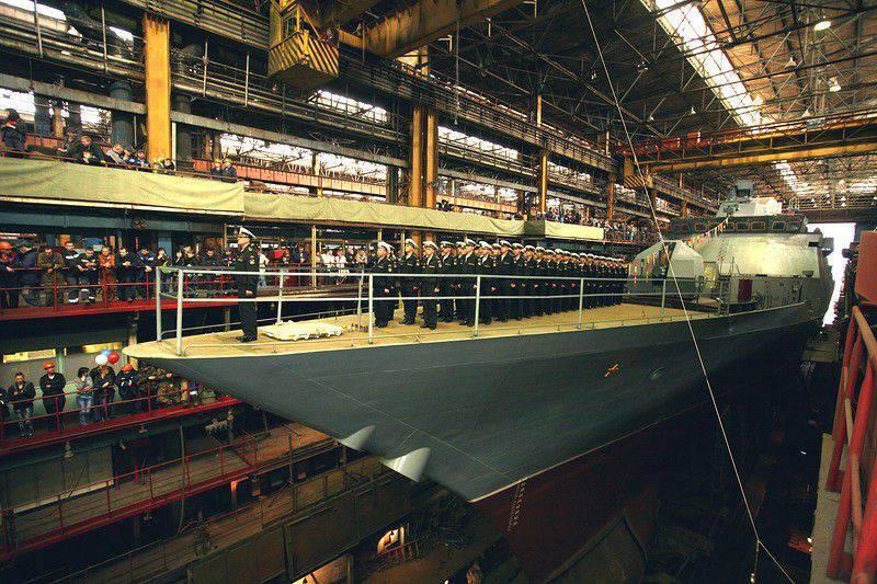 """Bei der Amur Shipbuilding Corvette wird """"Perfect"""" aus der Gebäuderutsche abgeleitet"""
