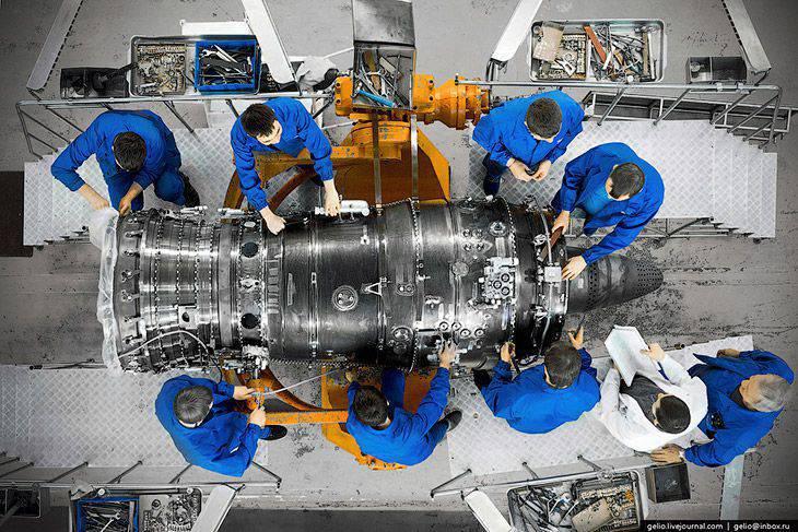 Produktion von Flugzeugtriebwerken in Russland