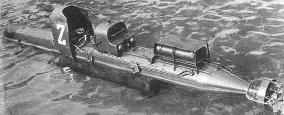 人間制御の魚雷SLC Maiale(イタリア)