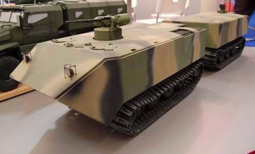 """Auf dem Forum """"Army-2015"""" wurde erstmals ein zweigleisig verfolgtes Schneesumpf DT-BTR vorgestellt"""
